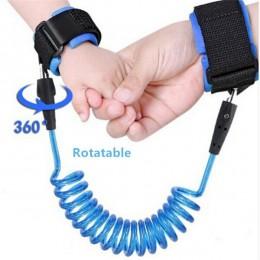 1.5-2.5m szelki bezpieczeństwa dla dzieci regulowane smycz dla dzieci Anti-lost Wrist Link rozwijana smycz chodzik dla dzieci op