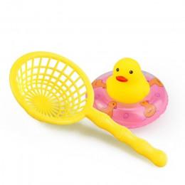 15 sztuk/worek zabawka do kąpieli zwierzęta pływanie zabawki wodne Mini kolorowe miękkie pływające gumowa kaczka wycisnąć dźwięk