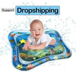 Nadmuchiwane niemowlęta brzuszek czas aktywność mata dziecko zagraj mata wodna zabawki dla dzieci mata lato basen plaża gra dzie
