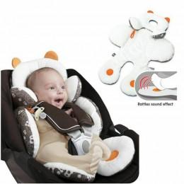 Regulowany miękki bawełniany fotelik wózek spacerowy dla noworodka poduszka wsparcie samochód mata wykładzinowa wygodna poduszka