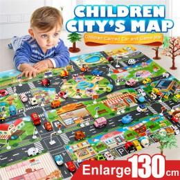 Dywan dla dzieci rozwój dzieci mata do zabawy miasto budynki drogowe mapa parkingowa gra scena mapa zabawki edukacyjne dropshipp