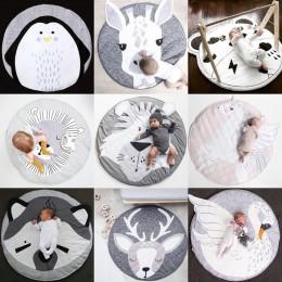 Baby Gyms & Playmats Kids Animal Series poduszka noworodek miękka bawełniana podkładka do zabawy podkładka do pełzania dla dziec