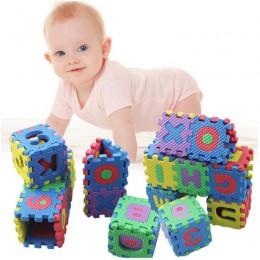 36 sztuk Mini pianki maty podłogowe dzieci dzieci Cartoon alfanumeryczne indeksowania dziecko 6*6cm Puzzle Kinderen Alfabet zaba