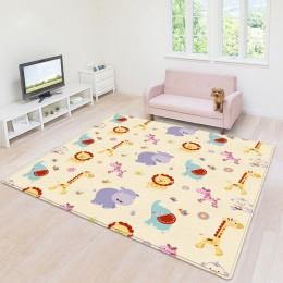 Niemowlę lśniące dzieci mata do zabawy składane Puzzle Playmat pad do grania dla niemowląt 180*150*0.5CM pianka mata dla niemowl