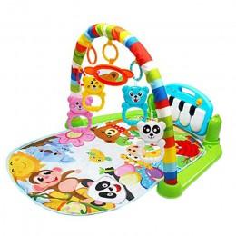 Dzieci Fitness Rack dziecko mata ze stojakiem edukacyjnym zabawki dla niemowląt klawiatura pianina muzyka koc rozwój intelektual
