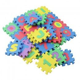 36 sztuk piankowa mata podłogowa dzieci Cartoon alfanumeryczne indeksowania dziecko 6*6 cm Puzzle przedszkole poznawcze edukacja