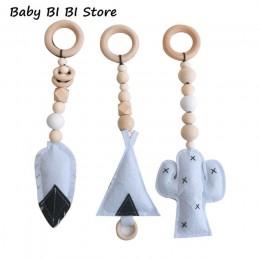 Baby Gym Toy Frame Sensory przedszkole dekoracja pokoju dziecięcego odzież dla niemowląt regał drewniany