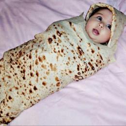 Wysokiej jakości Burrito kocyk dziecięcy Tortilla do przewijania koc do spania owijka dla niemowląt kapelusz 8.4gg