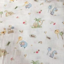 1Pc muślin 100% bawełna Baby Swaddles miękkie noworodka koce tkanina do kąpieli otulacz dla niemowląt Sleepsack pokrowiec na wóz