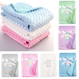 Koce dla noworodków ciepły polar termiczny miękki wózek snu pokrywa Cartoon Beanie pościel dla niemowląt owijka dla niemowląt rę