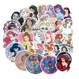 100 sztuk Disney Princess naklejki piękna wodoodporna naklejka na samochód walizka bagażowa zabawki dekoracyjne dla dzieci kompu