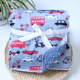 Koce dla dzieci nowe zagęścić podwójna warstwa koral polar niemowlę przewijać Bebe koperta Wrap sowa wydrukowana noworodka koc p