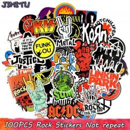100 sztuk Rock naklejki muzyka Retro zespół Graffiti JDM naklejki do diy gitara motocykl Laptop przechowalnia Skateboard Car Sno