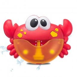 Dropshipping maszyna do baniek mydlanych kraby żaba muzyka zabawka do kąpieli dla dzieci wanna mydło automatyczny ekspres do ban