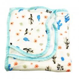 Cztery/sześć warstw 100% bawełniany koc noworodek pieluszki Super wygodne koce pościel owijka dla niemowląt niemowląt muślinowy