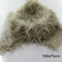 (75*50 cm) miękkie długie stos futra mongolski futro kosz na koce nadziewarka noworodka fotografia rekwizyty prezent na baby sho