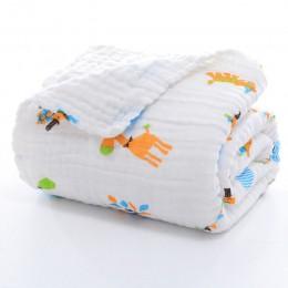 Koc do przewijania dziecka muślin noworodek Wrap dla dziecka dzieci chłopcy dziewczęta pościel ręcznik bawełniany pokrowiec na w