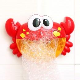 Bubble kraby muzyka zabawki do kąpieli dla niemowląt basen dla dzieci pływanie wanna maszyna do produkcji mydła automatyczna bań