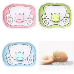 Niemowlę niedźwiedź poduszka we wzór noworodek poduszka podtrzymująca Pad zapobieganie płaska głowa poduszka kształcująca prawid