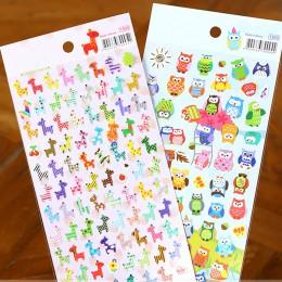 Cartoon naklejka ze zwierzętami zabawka sowa nadruk z żyrafą zabawka dla dzieci naklejka śliczny pamiętnik Scrapbooking kalendar