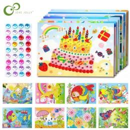 4 sztuk/partia DIY naklejki diamentowe Handmade kryształ wklej malowanie mozaika puzzle zabawki losowy kolor dzieci dziecko nakl