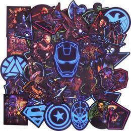 50 sztuk Neon Super hero Avengers naklejki na bagaż Laptop kalkomania deskorolka naklejki rower motocykl lodówka bomby JDM nakle