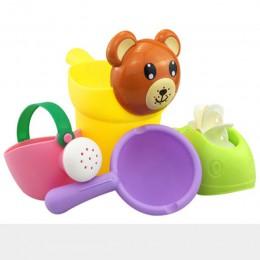 Prysznic dziecięcy zabawki do kąpieli śliczna żółta kaczka koło wodne słoń zabawka dziecko kran woda do kąpieli spryskiwacz Dabb