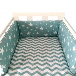 Przedszkole dla dzieci Nordic wzór gwiazda łóżeczko dla dziecka zagęścić zderzak jednoczęściowy łóżeczko wokół poduszki łóżeczko