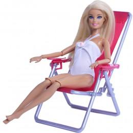 1:6 skala meble do domku dla lalek pływać składany fotel akcesoria dla barbie lalki dla Blythe House Lounge różowa róża krzesło