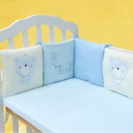6 sztuk/partia łóżeczko dla dziecka Protector osłona do łóżeczka klocki ochraniacz do łóżeczka dla dzieci w łóżeczku łóżeczko zd