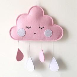 Dekoracja sypialni dziecięcej wiszące zabawki chmury noworodka wiszące ozdoby dziecięce łóżko dzwon dekoracja pokoju dziecięcego