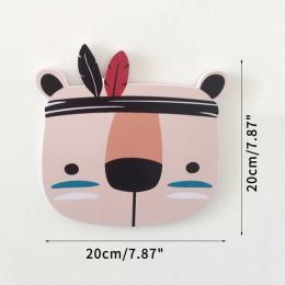 Gorący styl skandynawski ozdoby ścienne do domu zwierzęta kreskówkowe Fox pokój dziecięcy szopka wystrój dzieci dekoracja sypial