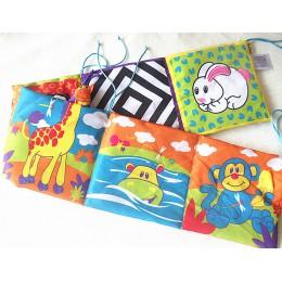Zabawki dla dzieci zabawki dla dzieci tkaniny książki wiedza wokół wielu dotykowy wielofunkcyjny zabawy i podwójny kolor kolorow
