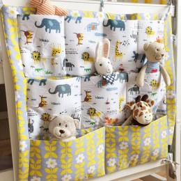 Łóżeczko dziecięce ochraniacz do łóżeczka wisząca torba do przechowywania wielofunkcyjny muślin łóżeczko dla dziecka kieszeń wis