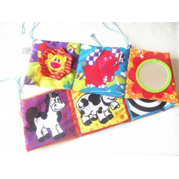 Zabawki dla niemowląt 0-12 miesięcy grzechotki dla niemowląt szmatka książka wiedza wokół multi-touch wielofunkcyjna zabawa i dw