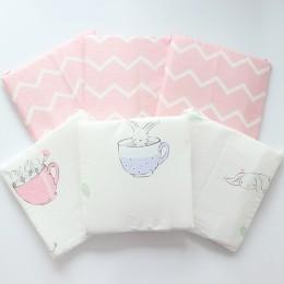 Zderzak dla noworodków Nordic grube miękkie zderzaki w łóżeczku na dekoracja do pokoju dziecięcego szopka Protector dla niemowla