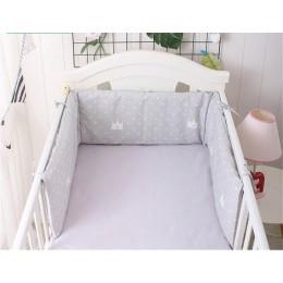 Nordic wzór gwiazda łóżeczko dla dziecka zagęścić zderzaki jednoczęściowy łóżeczko wokół poduszki łóżeczko Protector poduszki 7