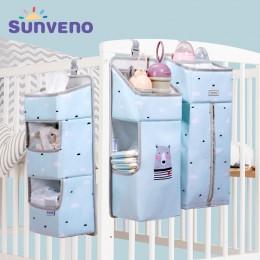 Organizer do przyborów kosmetycznych niemowlaka na łóżeczko wiszące materiałowe z przegródkami modne ozdobne