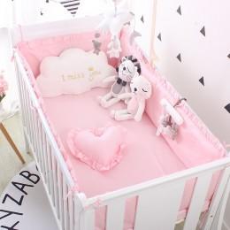 Księżniczka różowy 100% bawełna komplet pościeli dziecięcej noworodka zestaw pościeli do kołyski dziecięcej dla dziewczynek chło