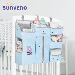 SUNVENO przenośne łóżeczko dziecięce Organizer torba do zawieszenia łóżka dla niemowląt Essentials torba do przechowywania pielu