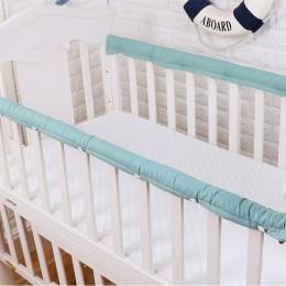 2 sztuk/zestaw zwykły kolor osłona do łóżeczka zagęszczony dziecko nocna ochronna Bar antykolizyjna bariera pokrywa dla niemowlą