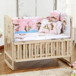 5 sztuk zestaw pościeli do kołyski dziecięcej pościel dla dzieci zestaw 100x58cm noworodka zestaw z łóżkiem dla dzieci osłona do