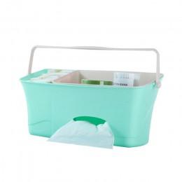 Łóżko wiszący schowek pielucha dla niemowląt Organizer na pieluchy łóżeczko organizator noworodka zabawka butelka do karmienia w