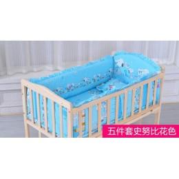 Komplet pościeli dziecięcej 6 sztuk dziecko dziecięce łóżko zderzaki materac poduszka pod plecy bawełna dziecko pościel dziewczy