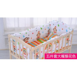 Komplet pościeli dziecięcej bawełna Baby Boy pościel zderzak podkładki wyściółka poduszka łóżko dla małego dziecka Liner Minnie