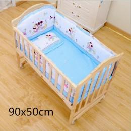 Komplet pościeli dziecięcej bawełniana osłona do łóżeczka poduszka pod plecy baby boy pościel do łóżeczka lniane do kołyski zest