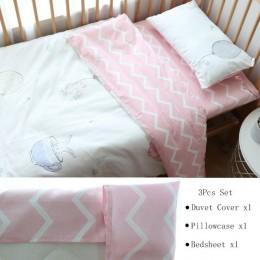 3 szt. Komplet pościeli dziecięcej bawełniane dziecięce łóżko pościel dziecięca Duver poszewka na poduszkę prześcieradło lub wyk