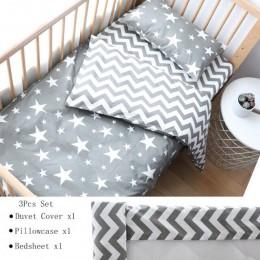 3 sztuk zestaw pościeli dla dzieci dla noworodków gwiazda wzór dzieciak dla chłopca czysta bawełna tkane łóżeczko poszewka do ko