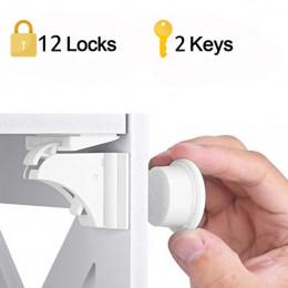 Magnetyczna blokada dziecięca 4-12 zamki + 1-3key zabezpieczenie przed dziećmi zabezpieczenie przed dziećmi zamknięcie drzwi sza
