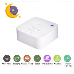 Biały urządzenie ułatwiające zasypianie USB akumulator czasowy wyłączenie snu dźwięk maszyna do spania relaks dla dziecka dorosł